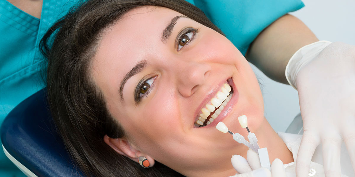Woman Receiving Dental Bonding